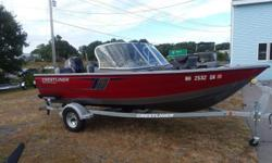 New to brokerage is this 2017 Crestliner 1650 Fishhawk 1650 WT powered with a Mercury 60 hp 4 stroke outboard and package with a Shoreland'r galvanized bunk trailer.This model is equipped with a full boat cover, suntop with connector, full fold down stern