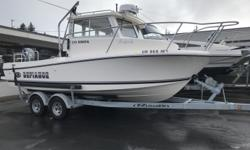 REDUCED PRICE 2017 Defiance Admiral 220 EX Loaded with accessories This clean 2017 Defiance 220 Admiral is paired with a low hour (169 hours) Yamaha F200XB and sits on top of a tandem axle ez loader with load guides. This boat itself has some nice