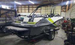 This 20-foot jet boat delivers the performance, reliability and powerful acceleration of a Rotax® engine. Plus a spacious cockpit for impressing friends and a large swim platform with exclusively designed lounge seating to keep you close to all the