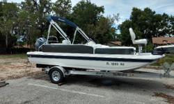 Pre-owned Hurricane 198 with Yamaha 115 This 2017 Hurricane 198 with Yamaha 115 HP (20 hours) engine. Charcoal. Equipped with Motor Guide Trolling Motor, stereo w/ blutooth, live well, fishing seats changing room, Full mooring cover. Bimini top, automatic
