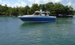 Triple 350 HP Yamahas with ONLY 295 hoursWarranties until 08/31/2021Gen-set ?? A/C ?? Full electronics (Garmin) ?? GPS ?? Radar ?? Auto pilot ?? Icom VHF ?? Upgrade Stereo System ?? Fusion ?? JL Speakers ?? Indoors storage ?? Super clean vesselLocated at