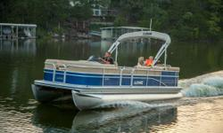 SS210 XL 3 Log Blue Fence with Gray and Blue Furniture, 2 Extra Speakers, Full Cover, Full Deluxe Vinyl Floor, Custom Reclining Captain's Seat, Premium Ski Tow, Chrome Package, Depth Finder, LED Interior Lights, Trailer. Packaged with a Mercury 115 Pro XS
