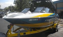 This one owner, well cared for tow boat has the right equipment for a full day of water sports. Extra Ballasts, speed control, wake shaping. Trade Considered. General Options BATTERY CHARGER BATTERY SWITCH CERTIFIED DRIVE TRAIN WARRANTY DUAL BATTERY