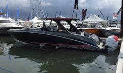 This immaculate Mystic M4200 is powered by triple Mercury Racing 350 Verado's and fully complimented with all the options.Custom one of a kind custom paint and interior package makes this M4200 unique on the water. The M4200 with its deep vee step hull