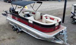 This is a custom built TriToon by Southern Idaho RV & Marine. It features our performance aeration strakes, electric Bimini top, custom seating and BBQ grilling area. This TriToon is loaded with features. Performance TriToons are the fastest growing
