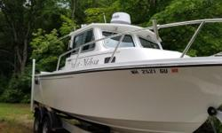 New to brokerage is this clean 2017 Parker 2120 Sport Cabin powered with a Yamaha F175 4 stroke outboard and packaged with an EZ Loader 5200 trailer.This model is equipped with white gel coat, trim tab indicators, 2- L.E.D. spreader lights, portside