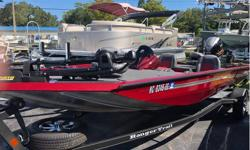 This 2017 Ranger RT 188 is powered by a 115 Yamaha SHO Four stroke outboard with warranty till 8/2023. This boat comes equipped with rear boarding ladder, Twin captains chairs, 4in Lowrance, Garmin Echo Map 5V. Two fishing chairs, Release well, Rod