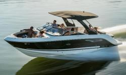 The Sea Ray SLX 280 is a high-end luxury model bowrider. Perfect for cruising around the lakes for water sports or even a day out with friends and family. With her high bulwarks, auto-trim feature and its top speed of around 49mph, this means it can