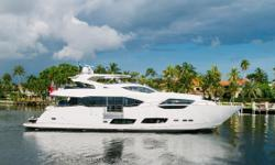 HIDEOUT is docked in Ft Lauderdale and seriously for sale with a transferable Warranty.  The vessel is in excellent condition with very low engine hours and many custom options that make this vessel the best 95' Sunseeker on the Market right