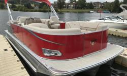 2017 TAHOE 24 LTZ QUAD LOUNGER YAMAHA F150XBRED WITH CHAMPAGNE ACCENTMOORING COVERUSB W/AUXBURANO STEERING WHEELELECTRIC POWER ASSIST STEERINGATD VINYL FLOORINGSIDE KEELSPONTOONS TRIPLE WAVE GLIDER CTS HPP 27'CHROME DOCKLIGHT ASSEMBLYOUTBOARD SKI TOW