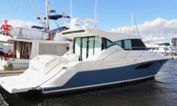 'Goldfish' is the best current example of Tiara's most active model. The C44 offers 2 Staterooms & 2 full Heads. Galley & Salon up, same level-easy walk through from the cockpit. You will find that this 2017 Tiara 44 Coupe is especially