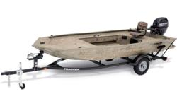 Built tough, with an ideal layout for waterfowling, the TRACKER GRIZZLY 1654 MVX Sportsman is a duck-hunting machine. It sports a lockable and removable starboard gun box, and a port rod/gear box. The unitized, all-welded stringer, transom and Mod V hull