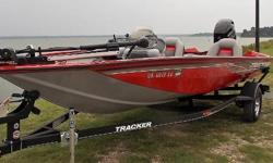 Pick a cherry! 2017 Tracker Pro Team 175 TXW, Mercury 60-4 (28 hrs.)Immaculate, carpet, Lowrance Hook 4X bow AND dash, MinnKota 45lb12V trolling motor w/Genie 2 bank onboard charger, factory boat cover, single axle trailer w/spare $15,995