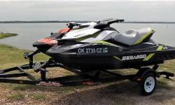 2017 Sea Doo PAIR, 4 hours each unit, Spark 2up HO Red,2nd is a GTI SE black with lime green accent, excellent condition,tandem single axle trailer, already tagged $15,995 Nominal Length: 9' Length Overall: 9' Beam: 9 ft. 0 in.