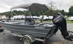 This is for the boat with a 60elpt CT Mercury 4 stroke. Warranty till 2020. Less than 20hours of run time. Galvanizec trailer, Bimini top. Call f  More info.  Nominal Length: 18' Length Overall: 18' Engine(s): Fuel Type: Other Engine Type: