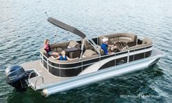 2018 Bennington 22SSXAPGP Features may include: INTERIOR ?2 Chaise Lounges ?Stern Storage Closet ?Stern Cupholder Box ?(NEW) Radius Bow Furniture ?(NEW) Two-Tone Vinyl Furniture ?Powder Coated Seat Hinges ?(NEW) SX Premium Furniture and Console ?Duraframe