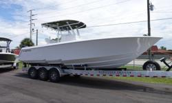 "2018 Contender 30 ST We sold this one owner, Pre-Owned 30 ST New. It is equipped with Garmin 7617 GPS touch screen and JL Stereo System. It was a custom ordered boat with ""U' shaped bow seating and Contender's latest center console and hard top. It has"