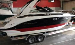 2018 Crownline 264CR with 300hp 6.2L Mercruiser Bravo III and Venture aluminum bunk trailer with brakes on both axles. Options include but not limited to foret full hull band with additional color stripe middle band. color matched deck vents, tri-color