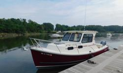 2018 Eastern 248 ExplorerLike our powerful 248 hull but need more permanent shelter than a T-top and dodger can provide? The 248 Explorer delivers a classically-styled hard cabin and pilothouse with sliding windows. As her name suggests, shes just right