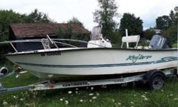2001 Key Largo 160 CC 2001 Key Largo 160 CC model in great condition 16.10 feet in overall length Sits up to 5 comfortably within as well! Classified as a Center Console vessel with several Options White fiberglass hull with a matching vinyl interior