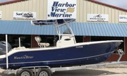 ***STK # 5390 ** 2018, NAUTIC STAR, 2302 LEGACY, YAMAHA 200 XB , MAGIC TILT TRAILER, TANDEM ALUMINUM OPTIONS AND FEATURES** 2) Mid Ship Pull Up SS Cleats ** Fiberglass T-TOP ** Stainless Propeller ** 30 Hours ** Bow Table W/Filler Cushion ** Color Indigo