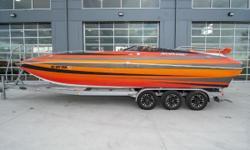 2018 Nordic 26 Deck Boat, Mercury Racing 600 SCi, (22 hours - 80mph - power under warranty until 7/11/19), Bravo XR drive, Bravo I 28 pitch prop, full hydraulic steering, rear ladder, rear stereo remote, rear trim button, bimini top, LED nav lights,