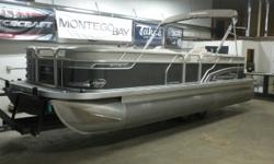 2018 Princecraft Vectra 23 XT Pontoon & 60HP Mercury 4-Stroke EFI Command Thrust! This 22' Pontoon Has Lounge Seating Up Front With Storage, Side By Side Captain's Seats, Rear Facing Lounge Seating With Storage, All Vinyl Floor, Bluetooth Radio/MP3 Player
