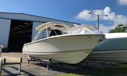 Recently traded, this S 280 is the cleanest and best optioned boat on the market. She has low hours, extended warranties, and is in new boat shape. Boat has been kept indoors since new, and has no bottom paint. Your search for a late model used S 280
