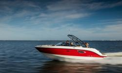 2018 Sea Ray SLX 230 Options Include: 3 Zone Gel Coat; Expresso Upholstery; Bimini Top w/Boot; Cockpit & Bow Covers; Blue LED Cockpit Lighting; Thru Hull Underwater Lights; Dynamic Display with USA Chart Maps; Transom Speakers; Infinity Woven Vinyl