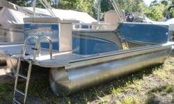 2019 Avalon Venture Quad Lounge 18' Option that are included with this boat are: Merc pre-rig, buckskin interior package, 2 low back recling commanders chairs, 15 gal direct fill fuel tank, 8' width upgrade, mirror chrome logos, Venture premium package (