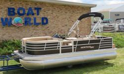 2019 Montego Bay 20' Fish And Cruise Deluxe Pontoon & Honda 4-Stroke EFI. This Pontoon Has Lounge Bench Seating Up Front With Storage, Wrap Around Seating With Storage, 2 Fishing Seats In The Back, High Back Captain's Seat, Humminbird Helix 7 DI GPS, All