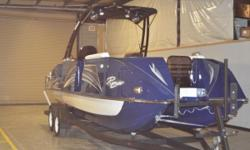 The 2019 Razor 247UR is the perfect way to get out on the water in STYLE! With its patented evolutionary hull, the Razor is ready to cruise the waves and includes many features like: Suzuki Rigging Monster Tower w/ Bimini, Lights, & Bullet Speakers