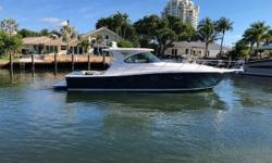 Owners' change of boating plans have presented this ultra-low hour 39 Open Tiara to the used market. With only 25 hours of use, she is as-new. This is a very rare opportunity to own a lightly used 39 loaded with all of the options. She will deliver with
