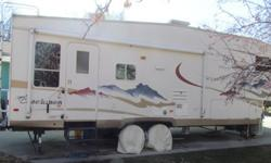 """2006 Coachman Chaparral $22,500 This a Model#277DS, non-smoking unit with double slides that sleeps 6. Comes with many options inlcuding """"Steadyfast"""" stabilizing system, King size bed, hide-a-bed sofa, day/night shades, tinted safety glass, outside"""