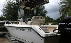 2008 Key West 2020cc with a Mercury 150 Optimax-2012 Hull just put on at the Key West Factory due to a lamination default on original hull. Practically getting a 2012 2020cc for half the price!-Brand new bow cushion included-Trailer included-Kenwood