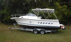 NEW LISTING. 1999 Bayliner Trophy 2352. Very good condition. Mercruiser 5.0 Liter, 305 cubic inch, 260 horsepower. This boat is ready for the spring rockfish season. Excellent boat for fishing and family fun. Draft: 1 ft. 5 in. Beam: 8 ft. 4 in.