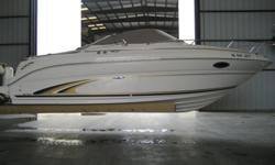 Priced to sell $23,500.00 24' Cabin Cruiser (Always Stored in a Boatel)?Bimini Top with full enclosure ?Cockpit Cover ?Deck Carpet ?Port Adjustable Back-to-Back Lounger Seat and Storage Base ?Aft Jump Seats (Forms Lounger Seat) ?Starboard Helm Seat with