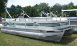 """This 24' 1996 Smokercraft """"24DP2"""" pontoon is very clean! Slight carpet damage can be seen on the front deck of the boat, however the rest of this unit is in great condition, especially the seats. A great cover is also included with this unit. Setup a test"""