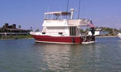 The Best Equipped and ready to fish, Cruise, Great loop 40 Mainship on the market. Over 60k US in recent upgrades, Impeccably maintained, New Bottom, shaft logs, full annual service 05/2011, New Custom top, Eisenglass enclosure, shade screens, New 1000#