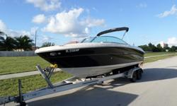"""This is a 2007 SeaRay 220 Select . This boat is in excellent condition with only 400 hrs . Also this boat comes with a Mercruiser 5.0 MPI the """"Silent Choice"""" exhaust factory option so it sounds as good as it looks . This boat also comes with a bimini top"""