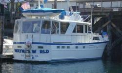An absolutely prime example of a quality built and pampered Motoryacht built by Hatteras. This one is one of the nicest and features Awl-Grip hull paint, 3 staterooms, Vacu-Flush heads, 15' Boston Whaler Dinghy with 35 hp Merc, new carpet, new curtains,