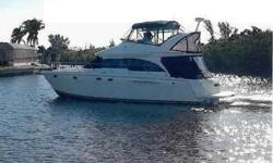 """2006 Meridian 411 SEDAN BRIDGE New to the brokerage market. """"Mardelle"""" is being offered by her original owner. She has been lift kept since new, has very low (140) hours and shows the same. Long list of standard features like DOC System (Bow & Stern"""