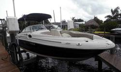 2005 Sea Ray 240 SunDeck For Sale by Power Yachts International - Florida Exterior Color: Blue - Inside color: Tan - Mercruiser 5.0 MPI - Bravo III DuoProp -Listing originally posted at