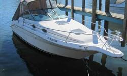"""""""LAST CALL""""ALWAYS FRESH WATERNICELY EQUIPPED & WELL-MAINTAINEDMERC 7.4L W/ 457 HOURSWhere would you like to go boating this weekend? With an 8' 6"""" beam, plus plenty of on-board creature comforts, this Sea Ray 270 Sundancer is ready to take you to your"""