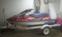 I have for sale a 1996 Kawasaki 1100 Jet Ski with 2001 Shorelander Trailer. The Jet Ski is in good overall shape exept that one cyl is low on compression. I don't have the time to work on it this winter. Asking $2000 or best offer. You can reply via