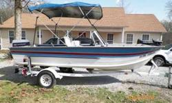 1987 Sylvan fishing boat, 14 feet long. Comes with trailer, trolling engine, and 115 Evinrude motor. Boat has been recently painted, seats 5. Not sure of the info but the boat is in terrific shape. Please call Thomas at 931-306-0521. Listing originally