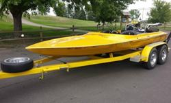 1978 Jetster 19ft jet boat. Is in good condition considering its age. Has Chevy 454 with Holley supercharger and a Golden Eagle jet. Motor and jet work well just don't have time to use the boat. Has tandem axle trailer and Bassett chrome headers. Seats 4