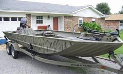 2008 Tracker Grizzly 2072 AWL Purchased this boat new in 2008. Used primarily as a bowfishing boat, the motor probably has less than 5 hours on it. I used the trolling motor all of the time. The boat is the blind duck edition. Basic features include built