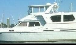 1988 MED Motor Yacht, Hull is Fiberglass Reinforced. three staterooms, large galley/dining, aft deck, upper and lower salons, twin Detroit Engines, three baths and showers, enclosed flybridge. Well maintained with recent $100K updates. Owner must