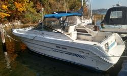 New Listing - Very well maintained Sea Ray Weekender 300. Great recreational boat forcruising, fishing and enjoying. Twin fresh water cooled Mercury V-Drives, updated electronics, windless anchor system, electric controlled center window